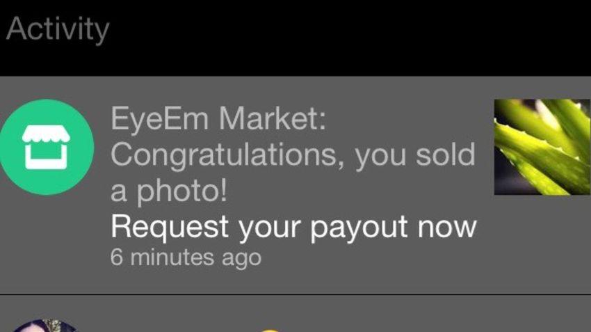Sold Photo On Eyeem Market makes Friday even better 😃🎉🥂🍾