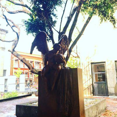 Historiccenter Down Mexico Cdmx Museum Cancilleria Architecture Patio Yard Sculpture Art