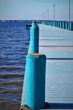 Accent Blue BREEZY Fishing Pier Sea And Sky Seaside Water Activities Waves
