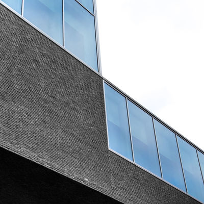 Minimal Blue Abstract Architecture Building Exterior Built Structure City Day Façade Low Angle View Minimal Modern No People Office Building Exterior Outdoors Reflection Sky Urban Geometry Window The City Light Minimalist Architecture Minimalz