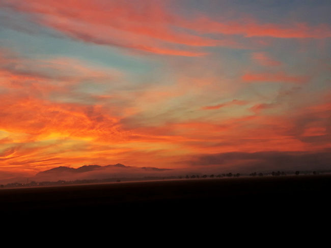 EyeEmNewHere Beauty In Nature Cloud - Sky Dramatic Sky Landscape Nature No People Orange Color Outdoors Scenics - Nature Sky Sunrise
