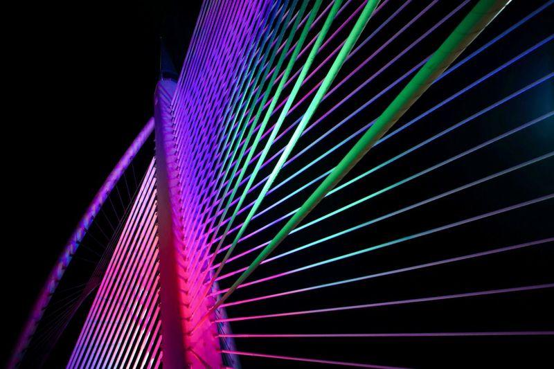 Putrajaya bridge Kuala Lumpur Nightphotography Tranquility View Architecture Built Structure Close-up Colorful Illuminated Lake Landmark Low Angle View Modern Multi Colored Neon Night No People Outdoors Putrajaya Sky Stem Suspension Bridge Tower Urban Wilayah