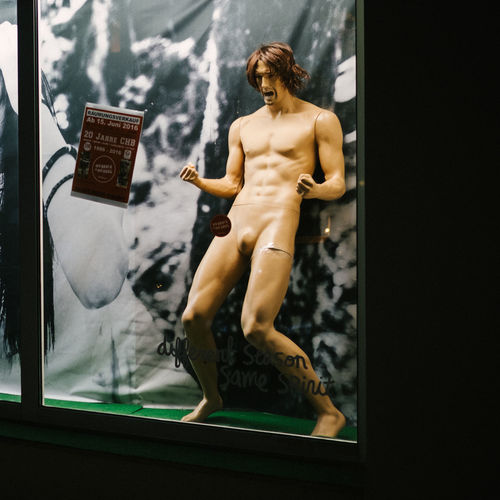 Berlin Capture Berlin City Deutschland Germany Ken Doll Mannequin Night Outdoors Shirtless Shop Window Standing