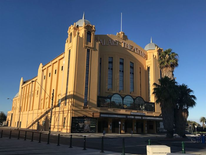 Palais Theatre, Saint Kilda Travel Destinations Arts Culture And Entertainment EyeEm Selects Architecture Blue Built Structure Building Exterior Clear Sky Outdoors Sunlight Sky No People Day