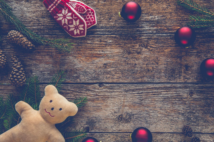 Toned Christmas background. Ornaments, teddy bear Christmas Christmas Balls Fir Tree Holiday Holidays ☀ Home Santa Claus Winter Wooden Table Xmas Christmas Background Christmas Decoration Christmas Ornament Close-up Concept Filtered Insta Pine Cone Space For Text Teddy Bear Teddy Bear 🐻 Toned Toy Winter Holidays Wooden