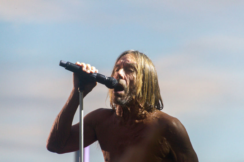 Concert Iggy Pop Legend Men Music One Person Outdoors People Portrait Rock Music Shirtless Singer  Singing The King