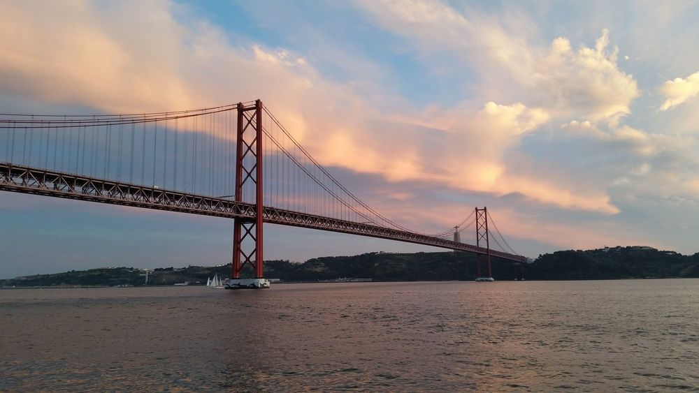 Lisbon Lisboa Portugal Bridge - Man Made Structure Architecture Water Lizbona Lisbonlovers Bridge Bridge Over Water Lost In The Landscape