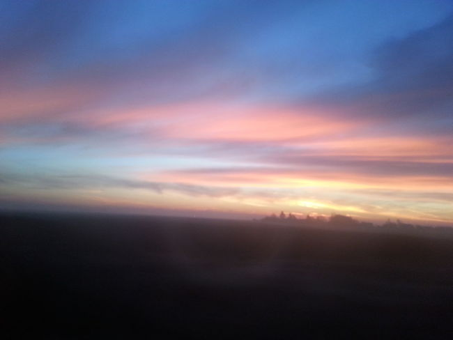 Sunset Beauty In Nature From My Point Of View Nature Fromthetrain Justamazingnature Tranquility Sky Dramatic Sky No People Outdoors Magical Moments Illuminated