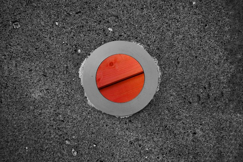 Wood Circle Geometric Shape Red Shape Road No People High Angle View Orange Color Street Day Design City