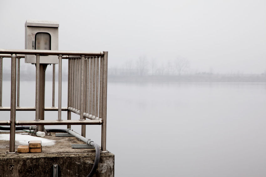 Abandoned Absence Broken Calm Clear Sky Copy Space Fog Food Lake Lakeshore Negative Space Obsolete Outdoors Reflection River Riverbank Safety Scenics Silhouette Standing Water Tranquil Scene Tranquility Water