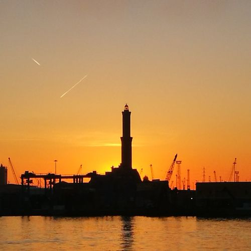 Water Sunset Silhouette Factory Industry Business Finance And Industry Dusk Sky Architecture Building Exterior Lighthouse Horizon Over Water Romantic Sky