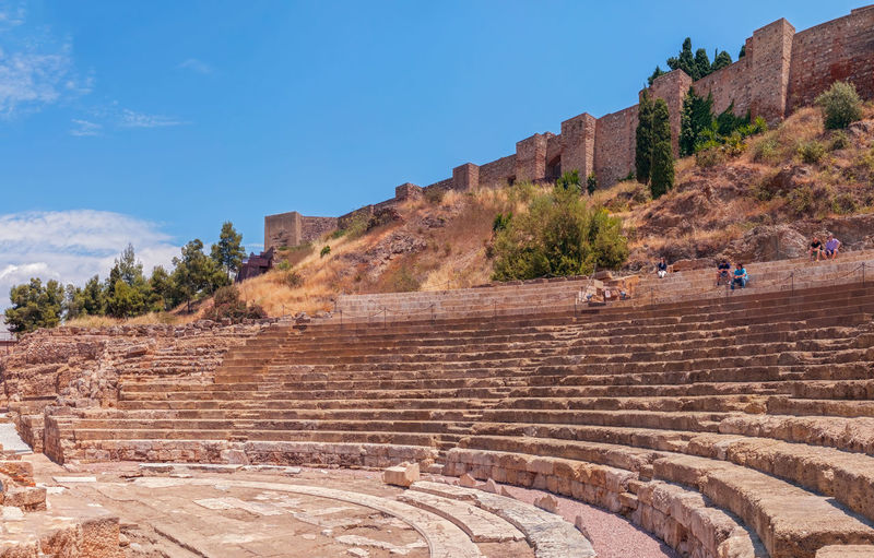Malaga, Spain - May 26, 2018. The Alcazaba and Roman Theatre in Historic and Artistic Center of Malaga, Spain Alcazaba De Malaga Alcazaba Of Málaga Historic Landscapes Historical Building Malaga Mediterranean  Panorama People Watching SPAIN Alcazaba Amphitheater Costa Del Sol Historic Multiple Image Old City Building Panoramic Photography People people and places Roberto Sorin Roman Theatre The Traveler - 2018 EyeEm Awards