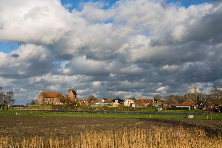 Cloudscape Dorp Exploring Ezinge Outdoors Remote Sky Village Village View