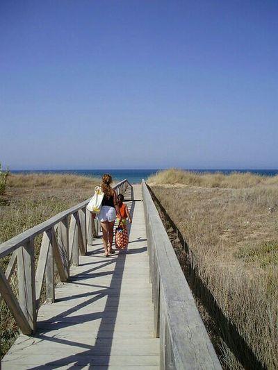 A la playa. To the beach Beach