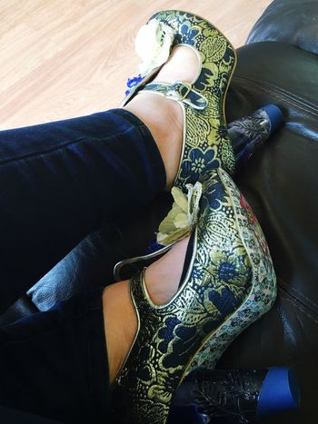 Love Shoes Heels New Shoes IrregularChoice Blue And Gold