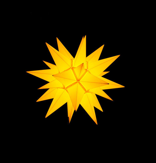 Yellow star lantern on black background Background Black Background Black Background Blackandwhite Close-up De Glow Glowing Sky Illuminated Indoors  Night No People Studio Shot Yellow Yellow Landtern Yellow Star