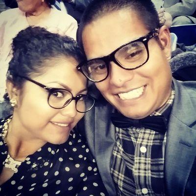 Con mi amada esposa en la asamblea en Houston texas