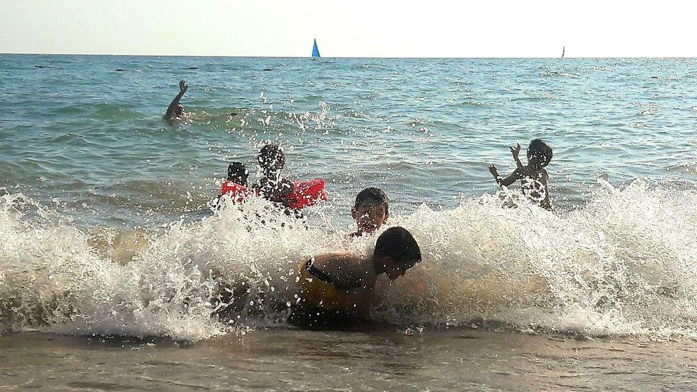 Enjoy The New Normal Sea Water Wave Splashing Outdoors Beach Childhood Children Photography Children Playing Beach Play Water Ball Deniz Dalga Sahilden Tebessum Activity çarpıcı Cocuklar Dalgalarla Dalga Geçenler :) Chance Encounters