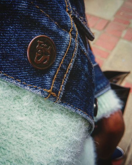 Denim love High Angle View Indoors  Low Section Casual Clothing One Person Real People Close-up Day People Warm Clothing Denim Jacket Denimlover Denimhead Nairobi Kenya