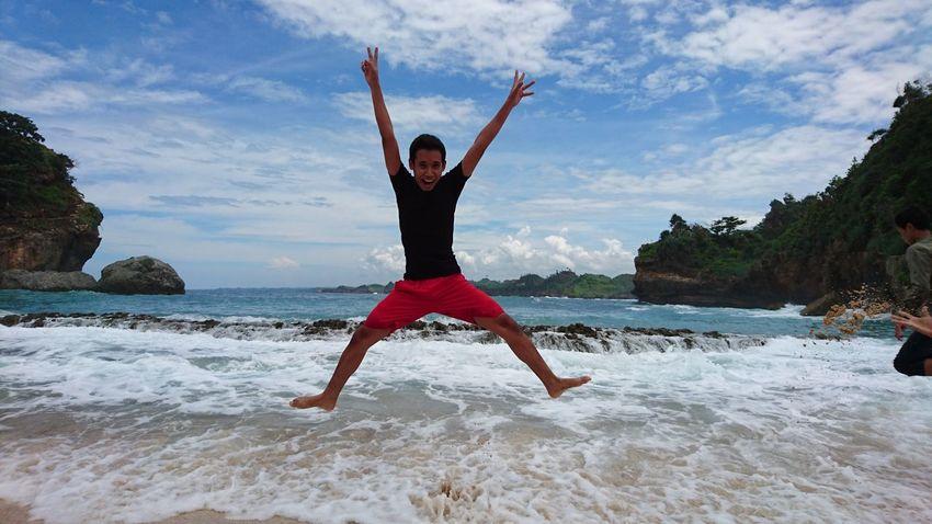 Jumpshot Jumping Batu Bengkung Beach Malang INDONESIA XperiaZ5 Beach