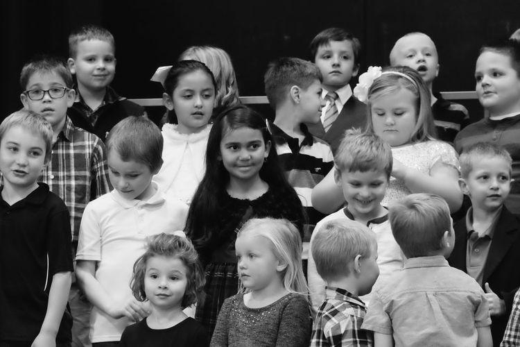 Visual Journal December 2016 Meridian School Daykin, Nebraska (Fujifilm Xt1, Fujifilm XC 50-230mm F4.5-6.7 OIS) edited with Google Photos. Camera Work Childhood Children Choir  Christmas Pageant Classmates Close-up Elementary Age Elementary School Indoors  Kids Kids Being Kids Music People Photo Diary Real People Rural America School Singing Small Town Stories Visual Journal