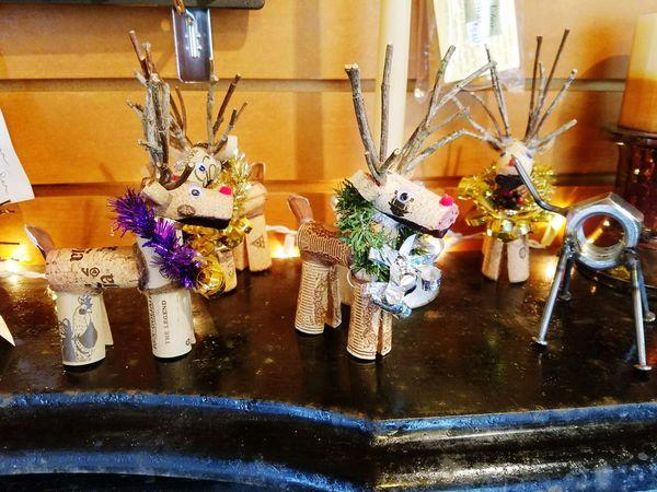 Christmas, reindeer, art,handcrafted
