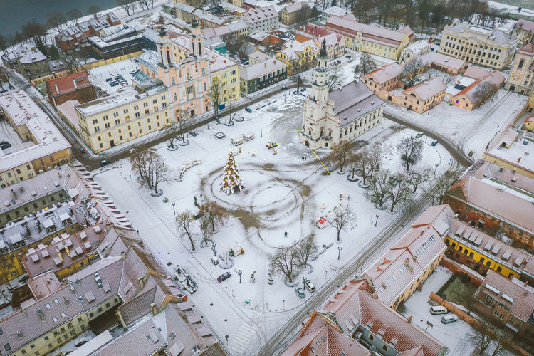Kaunas old town, winter Kaunas City Europe Lietuva Mavic 2 Mavic 2 Pro Aerial View Aerial Drone  DJI X Eyeem Winter Kaunas Old Town Snow White Architecture Building Exterior Built Structure Building High Angle View No People Residential District Day Cityscape Nature Outdoors Cold Temperature Travel Destinations Tourism Religion