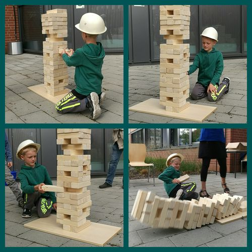 Build Bricks My Son ❤ Architecture Jenga! Wood - Material Fall Over Topple Construction Worker People Adventure Club Fashion People And Places What Who Where Enjoy The New Normal