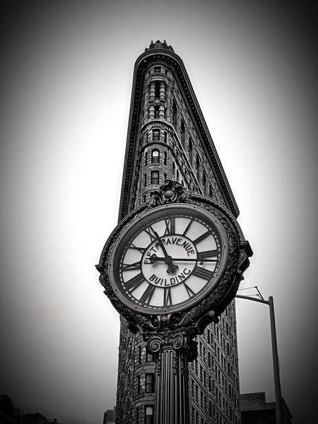 NYC Clock Architecture Flatiron Building Fuji InstaxSQ10
