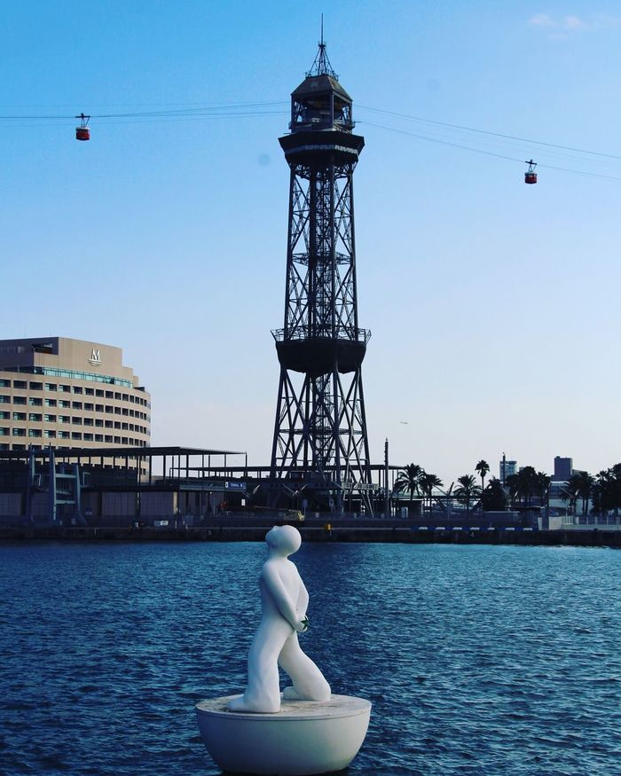 Look up to the sky and see... Barcelona Barcelona, Spain Barça Barcelonalove Port Portbarcelona Lookingup Looking Sky Sky_collection Art ArtWork Cable Car Sea Sea And Sky Travel Traveling Travel Photography Travel Destinations Around_the_world Art Is Everywhere
