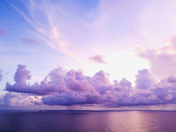 Blue Sky Coulds Coulds And Sky Sunrise Love Clouds And Sky Love Clouds  Colorful Puplesky Red Sky Orenge Sky Beauty In Nature Cloudscape Water Lake Sunset Multi Colored Summer Blue Reflection Sky Horizon Over Water Landscape Seascape Atmospheric Mood Calm Dramatic Sky Sky Only Romantic Sky