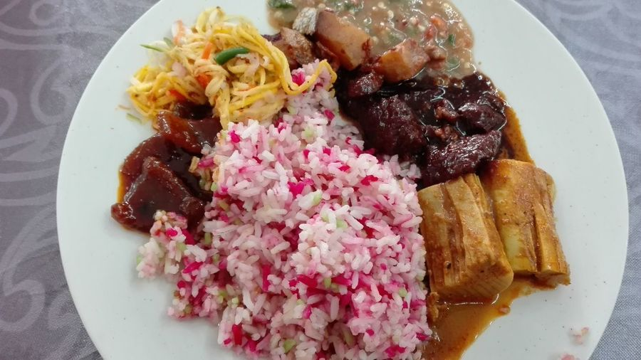 #kenduri #nasiminyak Plate Directly Above Close-up Food And Drink