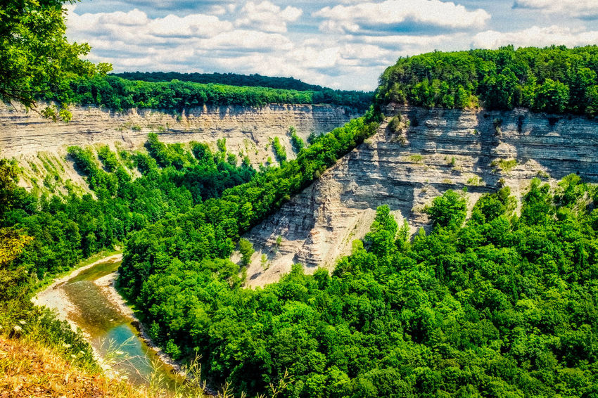 Grand Canyon of the East EyeEm Best Shots EyeEm Nature Lover EyeEm Selects EyeEm Gallery EyeEmNewHere Cloud - Sky Day Eye4photography  Green Color Landscape Nature No People Outdoors River Scenics Sky Tree Water