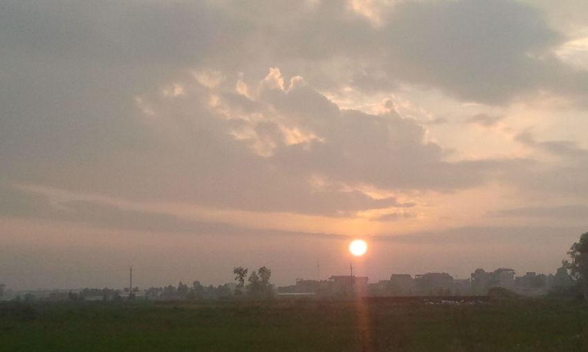 sáng sớm ngắm mặt trời lên thật dễ chịu Hi!