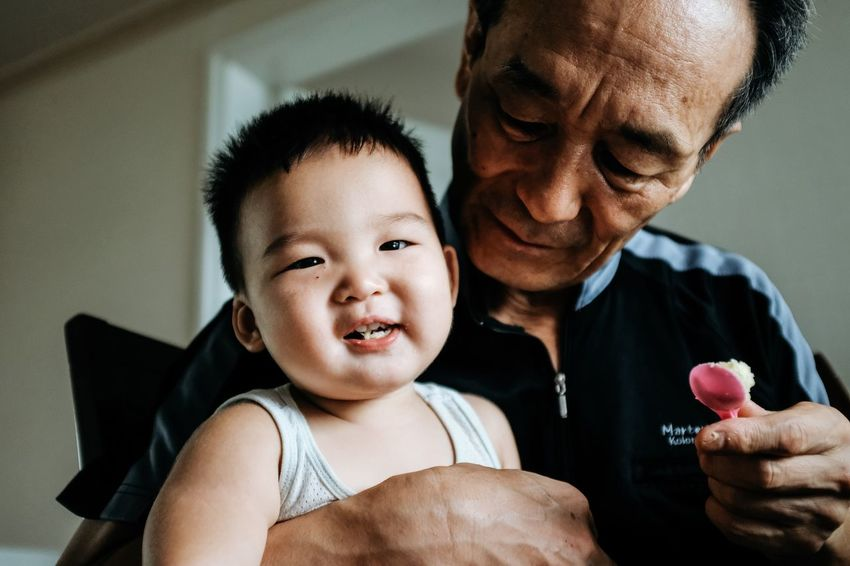 Family Togetherness Father Love Family Men Family With One Child Real People Happiness Bonding Indoors  Son Childhood Care Portrait Smiling Lifestyles Boys Day Close-up Adult