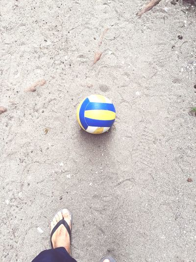 Ready For Vollyball Enjoy Beach