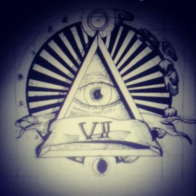 Piramide Eye Macon Drawn Logo