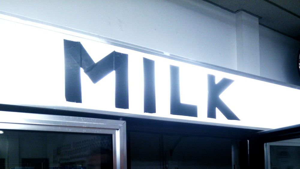 Milk Signs Signage Signs_collection Signs, Signs, & More Signs SignSignEverywhereASign Black And White Simple Things In Life Freshness Business Finance And Industry Minimalism Black & White Blackandwhite Silhouette Simplicity