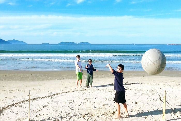 Beach Beachphotography Kids Playing Football Football The Great Outdoors - 2015 EyeEm Awards