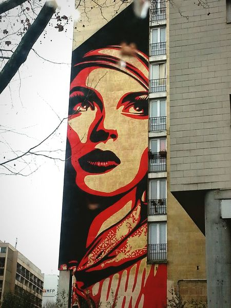 Urban Landscape From My Point Of View Urban Architecture Urbanphotography Urban Art Forms A Touch Of Red Photowalking Paris Urban Lifestyle Pictural Street Art Street Art/Graffiti Street View Woman Portrait Woman In Red Portrait Of A Woman