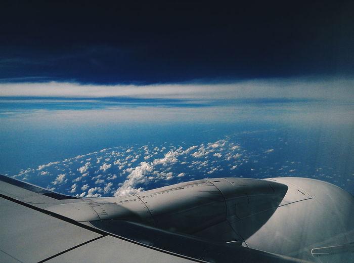Flying High On A Plane Flying Travel The Traveler - 2015 EyeEm Awards