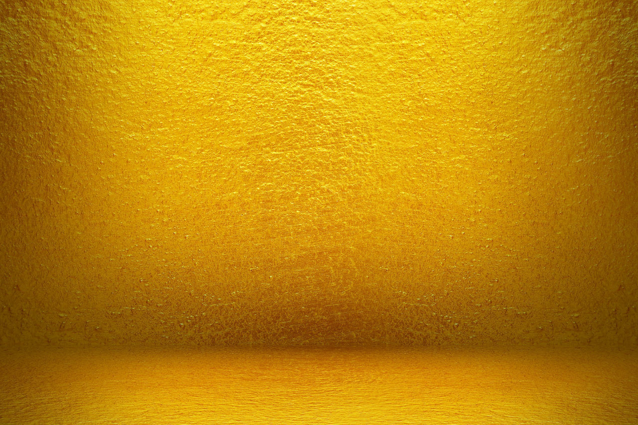 yellow, no people, backgrounds, gold colored, indoors, textured, wall - building feature, paper, full frame, close-up, pattern, gold, metal, dirt, wall, textured effect, abstract, dirty, old