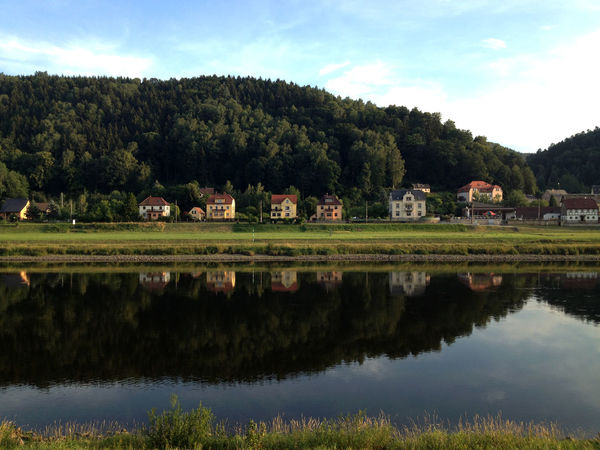 Badschandau Beauty In Nature Cloud - Sky Day Germany Landscape Lovelyhouse Nature No People Outdoors Reflection River Scenics Sky Tranquility Water Wonderful Place