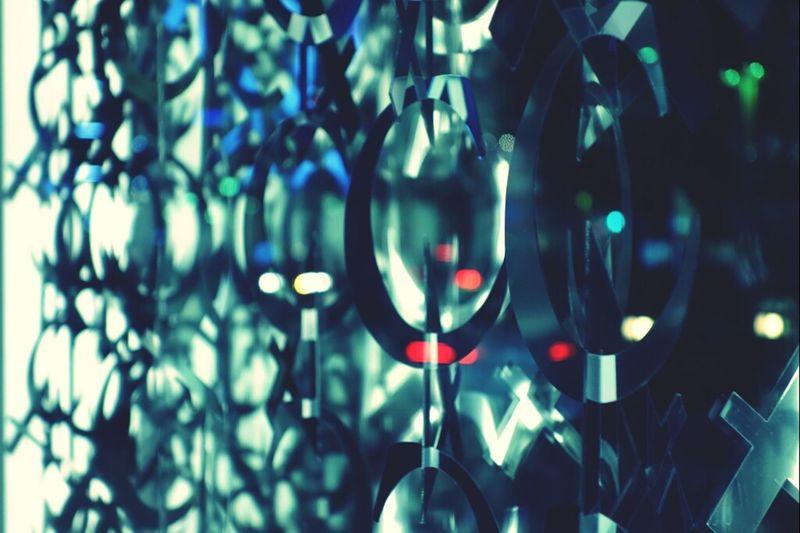 Bokeh Night Lights Window Display Metal