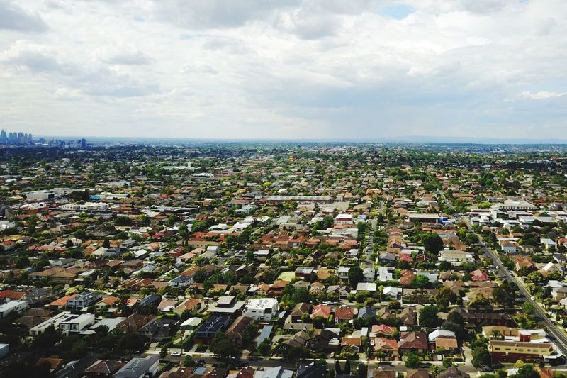 Taking Pictures Drone  Aerial View Dronephotography Aerial Shot Aerial Sky Cloud - Sky Horizon Building Exterior Architecture Cityscape Built Structure Outdoors City Horizon Over Water House Flying Flying High EyeEm Gallery Melbourne Architecture Taking Photos