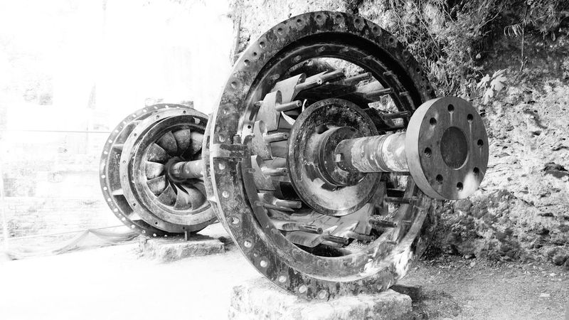 Amazing_captures Black And White Blackandwhite Photography Close-up Deterioration Industrial Industrial Photography Industry Iron Ironwork  Krka Krka National Park Machine Part Machinery No People Obsolete Old Outdoors Taking Photos Taking Pictures Wheel