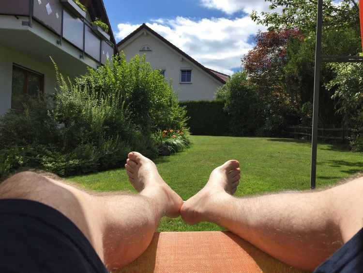 Chilling Time Human Body Part Human Leg Barefoot Real People Men One Person House Day Human Foot Architecture Personal Perspective Relaxation Grass Lifestyles Low Section Leisure Activity Building Exterior Built Structure Outdoors One Man Only Chill Chill Mode Chillout
