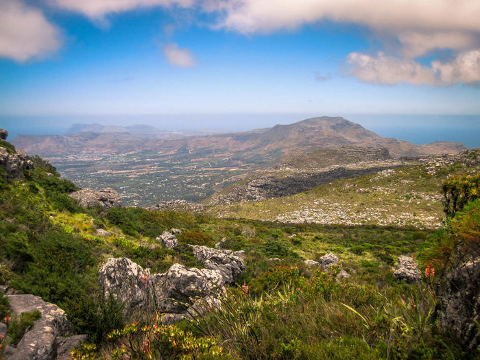 Beauty In Nature Cloud - Sky Day Fynbos Grass Landscape Landscape_photography Mountain Mountain Range Nature No People Non-urban Scene Outdoors Rocks Scenics Sky Tranquil Scene Tranquility Travel Destinations