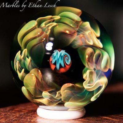 Marble Boromarble BORo Art artglass headyart handmade headymarbles glassmarble glass glassblowing mib headyglass ventura 805 ethanlesch
