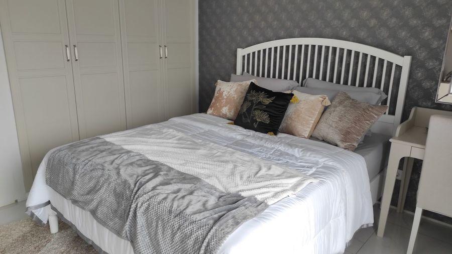 Tilt image of bed at home